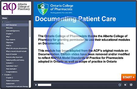 Documenting Patient Care Module